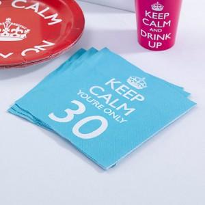 Χαρτοπετσέτες Keep Calm Party  30