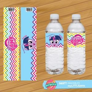 Water Label My Little Pony