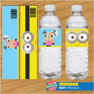 Water Label Minions girls