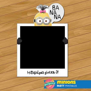 Photobooth frame Minion girl