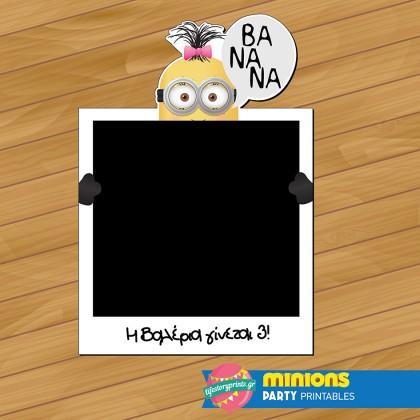 Photobooth frame Minion girl