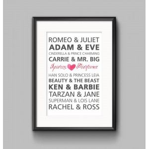 Famous Couple Poster