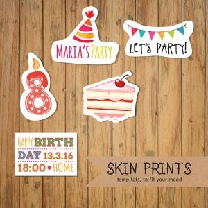 birthday invite tattoo