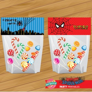 Bag topper Spiderman