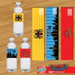 Water Label Spiderman